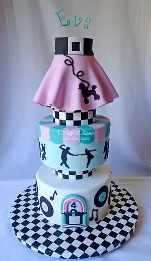 50's Sock Hop - Cake by Diane