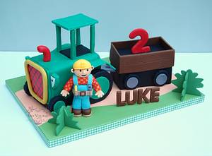 Bob the Builder and Travis - Cake by Deb Williams Cakes