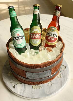 Beer Barrel Cake - Cake by Cakes By Samantha (Greece)