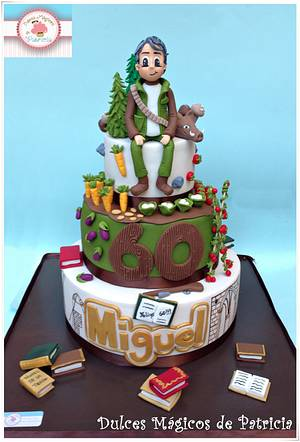 Miguel 60 th birthday - Cake by Dulces Mágicos de Patricia