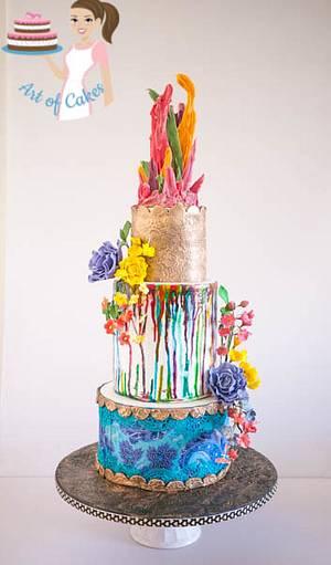 Color Splash Cake  - Cake by Veenas Art of Cakes