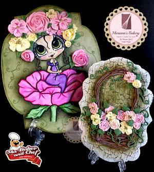 Ninfa de las flores  - Cake by Mariana Lopez Figueroa