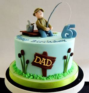Fisherman cake - Cake by Nikki's Cakes