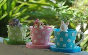 Bunny mini cakes - Cake by Shannon Davie
