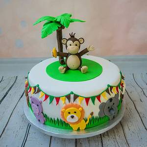 Safari animals - Cake by Silviya Dimitrova