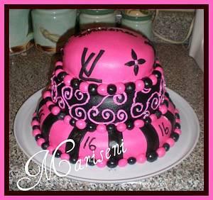 Louis Vuitton Inspired Sweet 16 Birthday Cake - Cake by Slice of Sweet Art