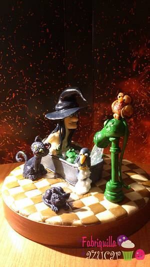 Witch Piruja - Cake by Fabriquilla de Azucar