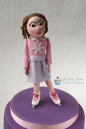 Ice Skating Birthday Cake - Cake by Amanda's Little Cake Boutique