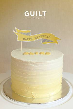 Yellow Ombre cake - Cake by Guilt Desserts