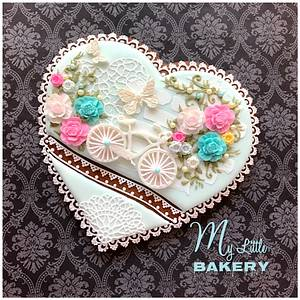 """Romantic heart cookie - Cake by Nadia """"My Little Bakery"""""""