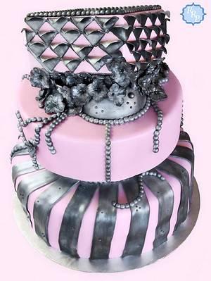 Pink Metal/Industrial  - Cake by JenStirk
