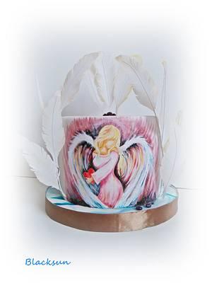 Hand painted angel - Cake by Zuzana Kmecova