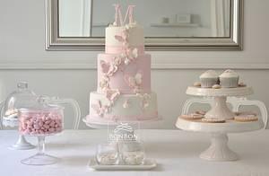 Butterfly christening cake - Cake by bonbonsugarart