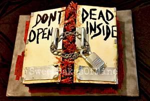 Walking Dead Cake (Dont Open - Dead Inside)  - Cake by Yaneri