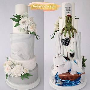 Double sided wedding cake - Cake by Tabi Lavigne