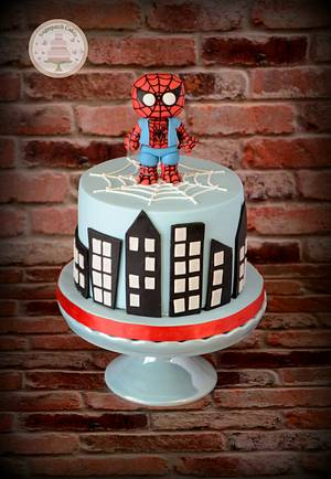 Spiderman Bobblehead - Cake by Sugarpatch Cakes