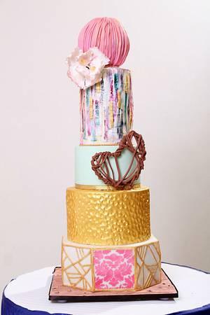 Modern Wedding Cake  - Cake by Ami
