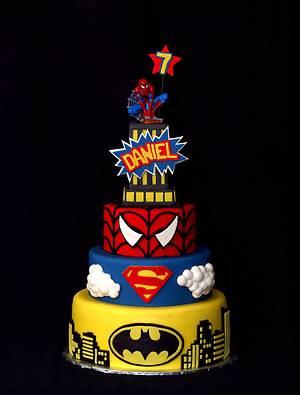 Super Hero Birthday bash - Cake by StuckOnTheFarm