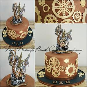 Steampunk ! - Cake by The Mixing Bowl Cake Company