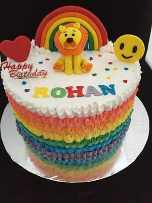 Fresh cream rainbow cake !! - Cake by Manjari jain