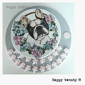 French bulldog  - Cake by Sugar Addict by Alexandra Alifakioti