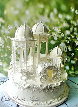 Fairytale in Royal icing  - Cake by Prachi Dhabaldeb