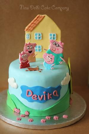 Peppa Pig! - Cake by Smita Maitra (New Delhi Cake Company)