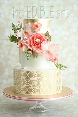 """Mesmerize""- Wedding Cake - Cake by Rumana Jaseel"