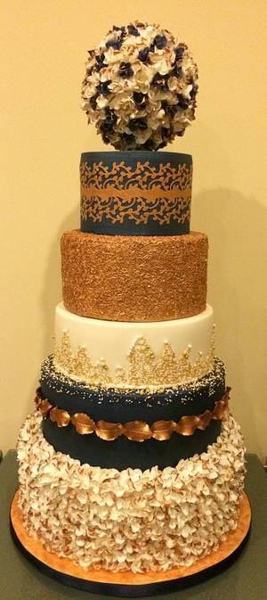 Cake International Entry London 2015 (Wedding Category) - Cake by Mimi's Sweet Treats