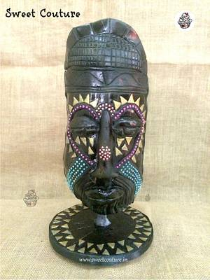 Nigerian Mask Cake  - Cake by Sunaina Sadarangani Gera