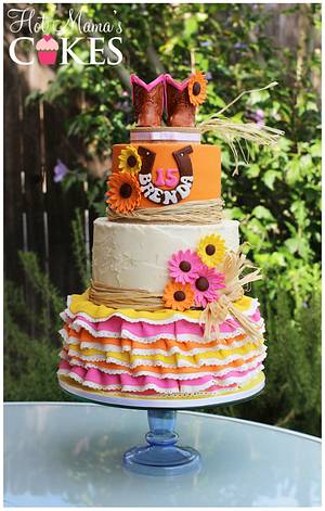 Western Quinceanera!  - Cake by Hot Mama's Cakes