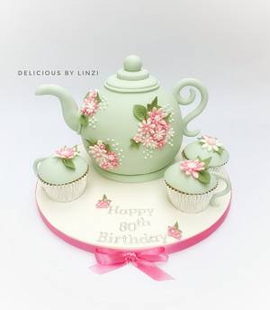 Teapot and 'teacup' cakes  - Cake by Delicious By Linzi