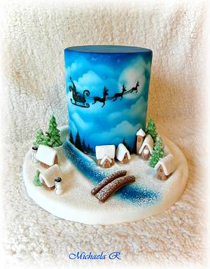 Winter Christmas cake - Cake by Mischell