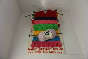 Knitted Scarf Cake! - Cake by Paul James