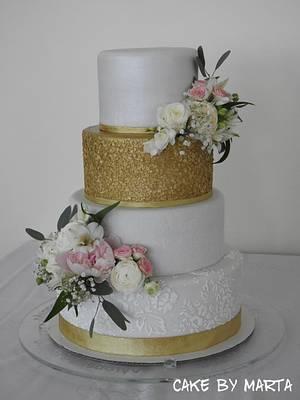 Wedding cake - Cake by MartaMc