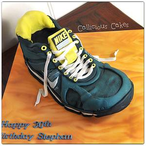 Nike Running-Shoe - Cake by Calli Creations