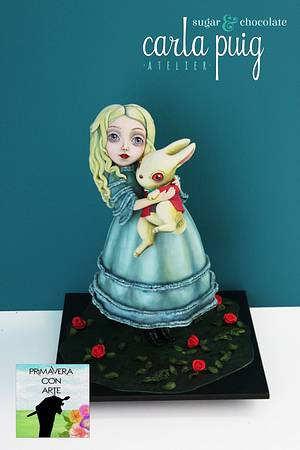 Primavera con arte - Alice (Benjamin Lacombe) - Cake by Carla Puig