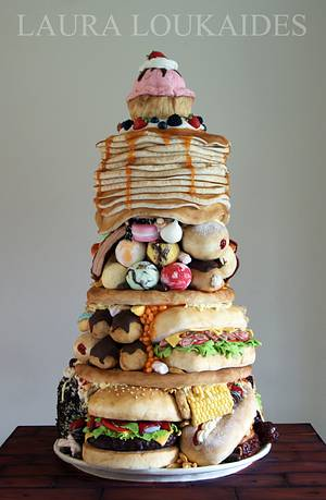 """The Big Eater"" - Cake International 2014 - Cake by Laura Loukaides"