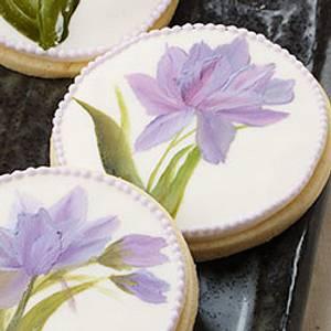 Hand Painted Tulip Cookies - Cake by Bobbie