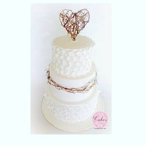 Rustic elegance - Cake by Cakes Inspired by me