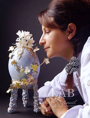 """Rococo Egg """"challengue Fabérge Easter Eggs hosted By Bakerswwod"""" - Cake by carolina Wachter"""