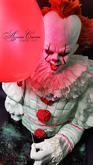 """""""Pennywise, The Dancing Clown"""" for Sugar Spooks v.5 collaboration - Cake by Azzurra Cuomo Cake Art"""
