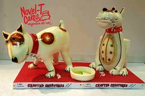 Pottery pooches cake - The Ark's 21st birthday collaboration   - Cake by Novel-T Cakes