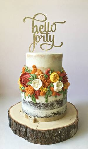 Buttercream flowers - Cake by Dream Cakes by Robyn