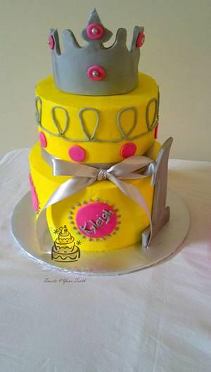 Little Princess 1st Birthday Cake - Cake by Carsedra Glass