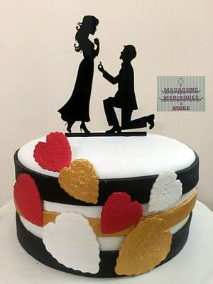 Will You Be Mine  - Cake by RupalsCakes (MACARONS MERINGUES &MORE )
