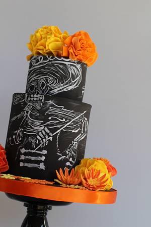 Día De Los Muertos - Sugar Skull Bakers Collaboration - 2017 - Cake by Jennifer Kennedy O'Friel - Sweet JennieD