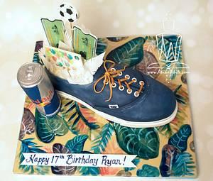 Birthday Van Shoe - Cake by Akiko White