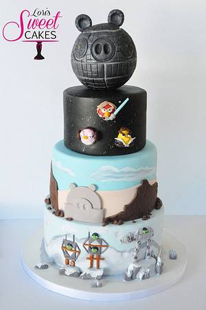 Angry Birds Star Wars  - Cake by Lori's Sweet Cakes