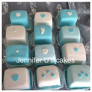 Baby shower mini cakes - Cake by Jenscakes15
